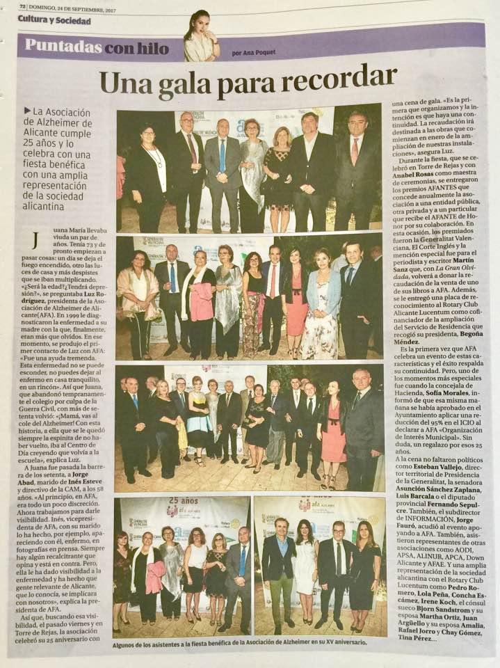Rotary Club Alicante Lucentum y AFTA